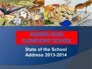 State of the School Address 2013-2014 - Warren Road Elementary ...