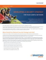 Developing a security strategy for your campus Network - Wavelink