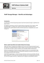 White Paper: PoINT Storage Manager - Benefits and Advantages