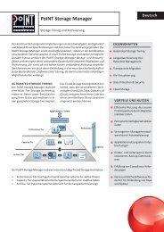 Datenblatt: PoINT Storage Manager - PoINT Software & Systems ...