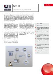 Data Sheet PoINT FSX - PoINT Software & Systems GmbH
