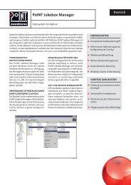 Datenblatt PoINT Jukebox Manager