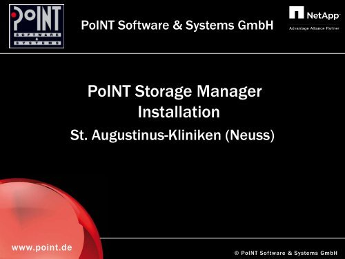 Folie 1 - PoINT Software & Systems GmbH