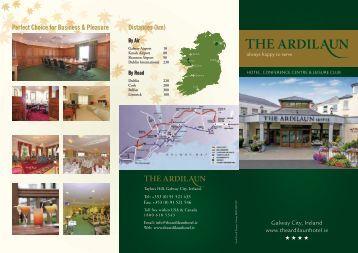 Hotel Brochure here - The Ardilaun Hotel Galway