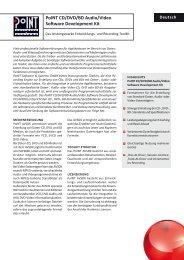 Datenblatt: PoINT CD/DVD/BD Audio/Video Software Development ...