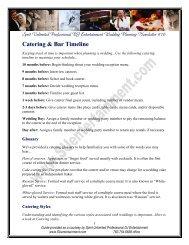Catering & Bar Timeline - Spirit Unlimited Professional DJ ...