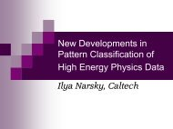 Review of multivariate classification methods, HEP ... - Caltech