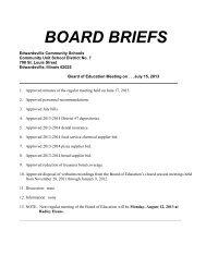 board briefs - Edwardsville School District 7