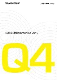 Bokslutskommuniké 2010 (782kb) - Teracom