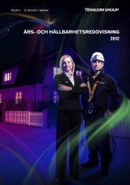 Års- och hållbarhetsredovisning 2012 (6040kb) - Teracom