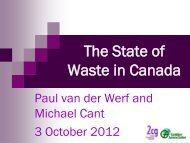 The State of Waste in Canada