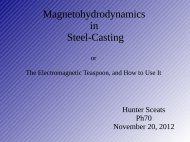 Magnetohydrodynamics in Steel-Casting