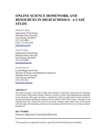 Online homework help for science