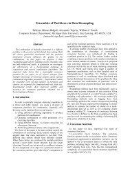 Ensembles of Partitions via Data Resampling - Research in Data ...