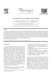 Lane detection and tracking using B-Snake
