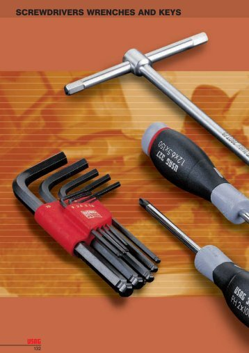 SCREWDRIVERS WRENCHES AND KEYS