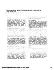 Fluid contacts and net-pay identification in three phase reservoirs ...