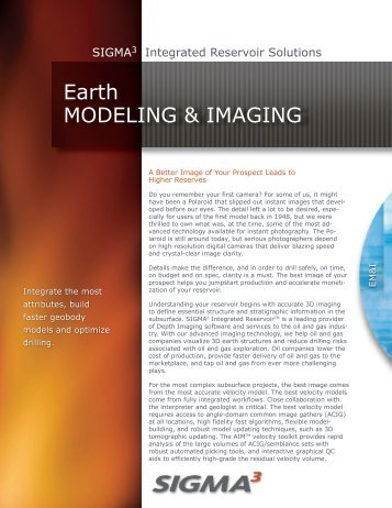 Earth MODELING & IMAGING - Sigmacubed.com