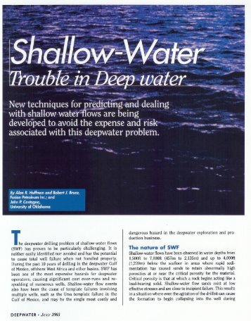 Shallow Water - Trouble in the Deep - Lumina Geophysical