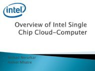 Overview of Single Chip Cloud-Computer
