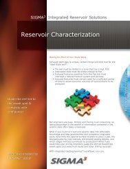 Reservoir Characterization - Sigmacubed.com