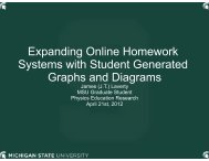 Expanding Online Homework Systems with Student ... - Lon Capa
