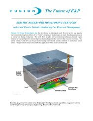 Fusion Seismic Reservoir Monitoring - Sigmacubed.com