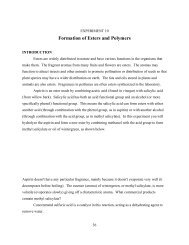 Formation of Esters and Polymers