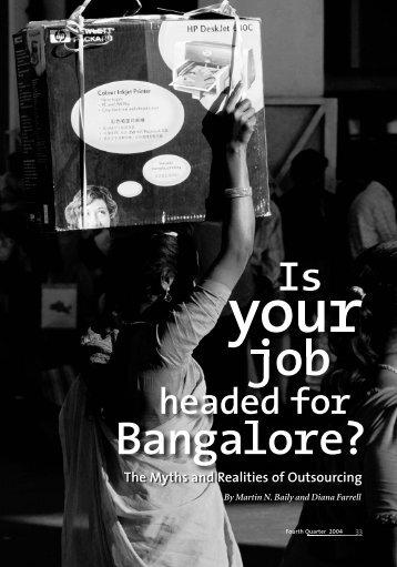 Bangalore? - Milken Institute