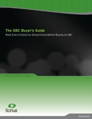 The SBC Buyer's Guide - Sonus Networks