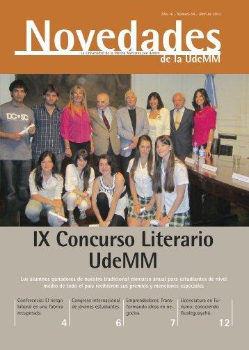 Entrega de premios del IX Concurso Literario UdeMM