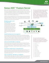 Sonus ASX™ Feature Server - Sonus Networks