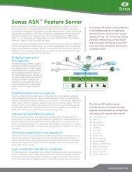 Sonus ASX™ Feature Server - Sonus Networks