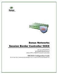 SBC 5XXX Configuration for ATT IP Flexible ... - Sonus Networks