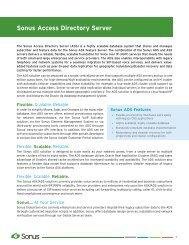 Download Brochure - Sonus Networks
