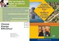 Choose Energy Efficiency! - Ontario Clean Air Alliance