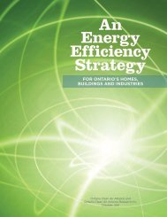 An Energy Efficiency Strategy - Ontario Clean Air Alliance