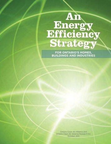 An Energy Efficiency Strategy - Ontario Clean Air Alliance