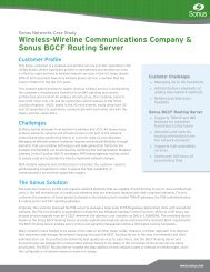 Download - Sonus Networks