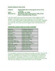 dotHill RAID EOL and StorageTek Drive/Price Change