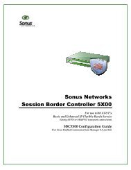SBC5X00 Configuration for ATT IP Flexible Reach ... - Sonus Networks