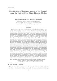 Identification of Dynamic Motion of the Ground Using the Kalman ...