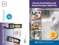 Ensure Food Safety and Extend Product Shelf Life - Weber Scientific