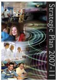 The Strategic Plan 2007 - 2011 - University of Abertay Dundee