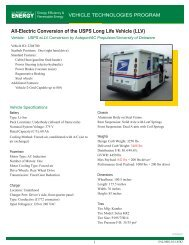 All-Electric Conversion of the USPS Long Life Vehicle (LLV)