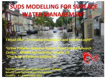 suds modelling for surface water management - SUDSnet