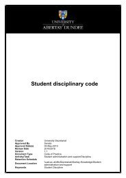 abertay coursework extension