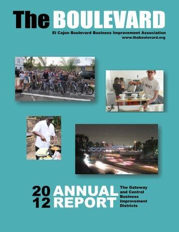2012 Annual Report - El Cajon Boulevard Business Improvement ...