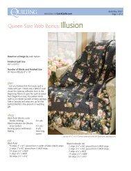 Queen Size Web Bonus:Illusion - McCalls Quilting
