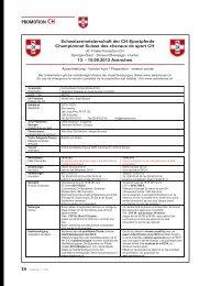 Proposition - Championnat Suisse des chevaux de sport CH